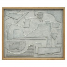 Abstract Framed Wood Collage