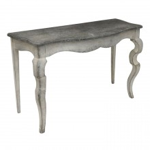 Painted Wood Console Table with Stylized Cabriole Legs