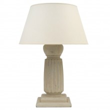 Painted Wood Reeded Columnar Lamp