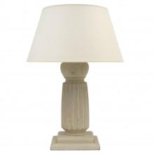 Painted Wood Reeded Columnar Lamp