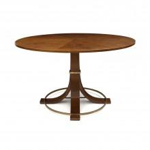 Circular Oak Table with Flared Legs
