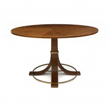 Circular Oak Table with Flared Legs