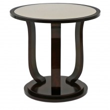Circular Walnut Art Deco Side Table
