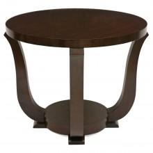 French Circular Walnut Art Deco Table