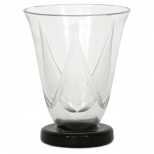 Etched Glass Art Deco Vase by Sevres