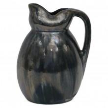 Dark Blue Iridescent Ceramic Pitcher