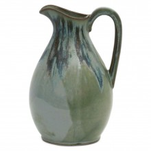 French Drip Glazed Stoneware Pitcher