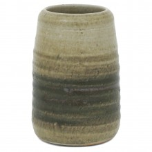 Earth Toned Stoneware Vase by Mobach