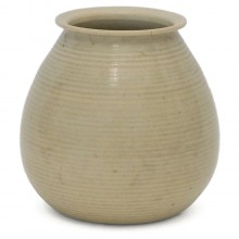 Beige Stoneware Vase by Adco, Holland
