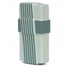 Light Gray and Blue Striped Rosenthal Vase