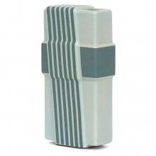 Light Gray and Blue Striped Rosenthal Vase
