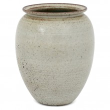 Large Gray Dutch Stoneware Vase
