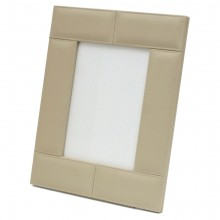 Italian Ivory Leather Picture Frame