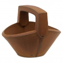 Sienna Color Stoneware Basket