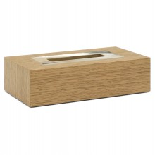 Natural Oak and Horn Tissue Box Cover