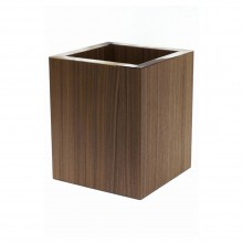 Natural Oak and Horn Tissue Waste Paper Basket