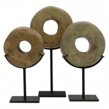 Set of Three Stone Rings on Stands