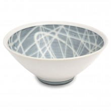 Porcelain Studio Art Bowl in Light Blue and White