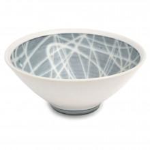 Porcelain Studio Art Bowl in Light Blue and White
