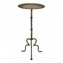Iron Table with Undulating Edge and Tripod Base