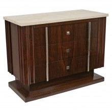 Rosewood Three Drawer Commode