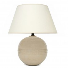 Off White Crackle Lamp