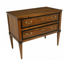 French Walnut Commode with Ebonized Trim
