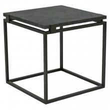 Square Iron Table with Floating Belgian Bluestone Top