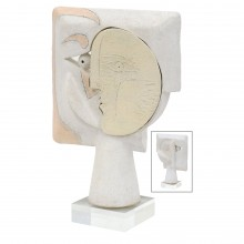 White Ceramic Figural Sculpture by John Born