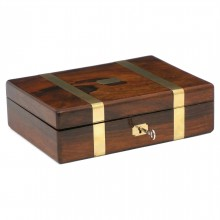 English Rosewood Fitted Jewelry Box