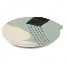 Hand Built Porcelain Plate