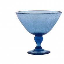 Blue Glass Compote