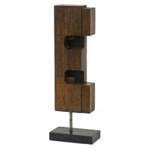 French Abstract Wood Sculpture