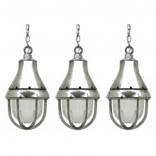 Polished Aluminum Pendant Lights