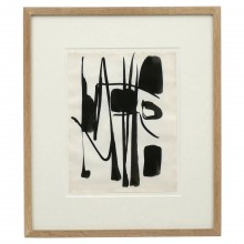 Abstract Black and White Watercolor Painting