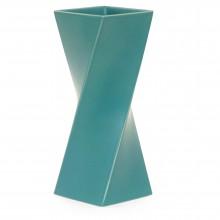 Turquoise Twist Ceramic Vase