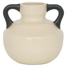 Dutch Cream Vase with Black Handles