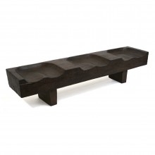 Suar Wood Three Seat Bench