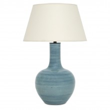 Light Blue Striae Ceramic Lamp