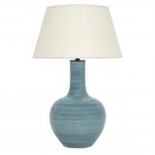 Light Blue Striae Ceramic Lamp