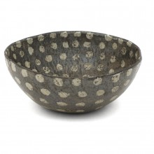 Stoneware Studio Bowl with Dot Motif