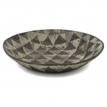 Stoneware Studio Bowl in Brown and gray