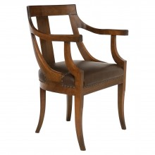 Italian Walnut Arm Chair