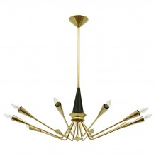 Brass Chandelier by Torlasco