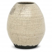 Crackle Glaze Raku Vase