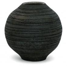 Black Raku Fired Vase
