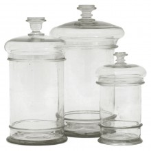 Set of Three Glass Cuisine Jars