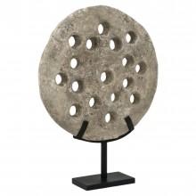 Pierced Round Stone Wheel on Stand