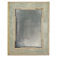 Painted Wood Mirror