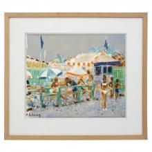 Oil Painting of Beach Scene